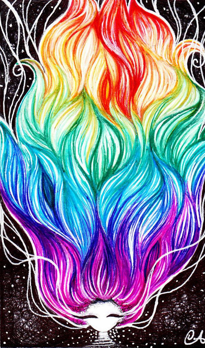 Rainbow Hair By Followschalk On Deviantart