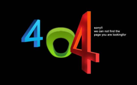 My 404 Error Page