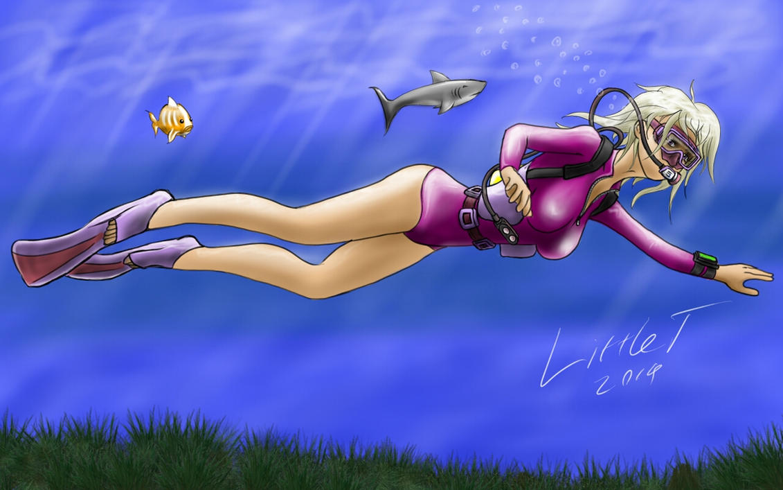 Lara Croft Underwater by Zaza-Boom on DeviantArt