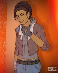 Alyx Vance colored.