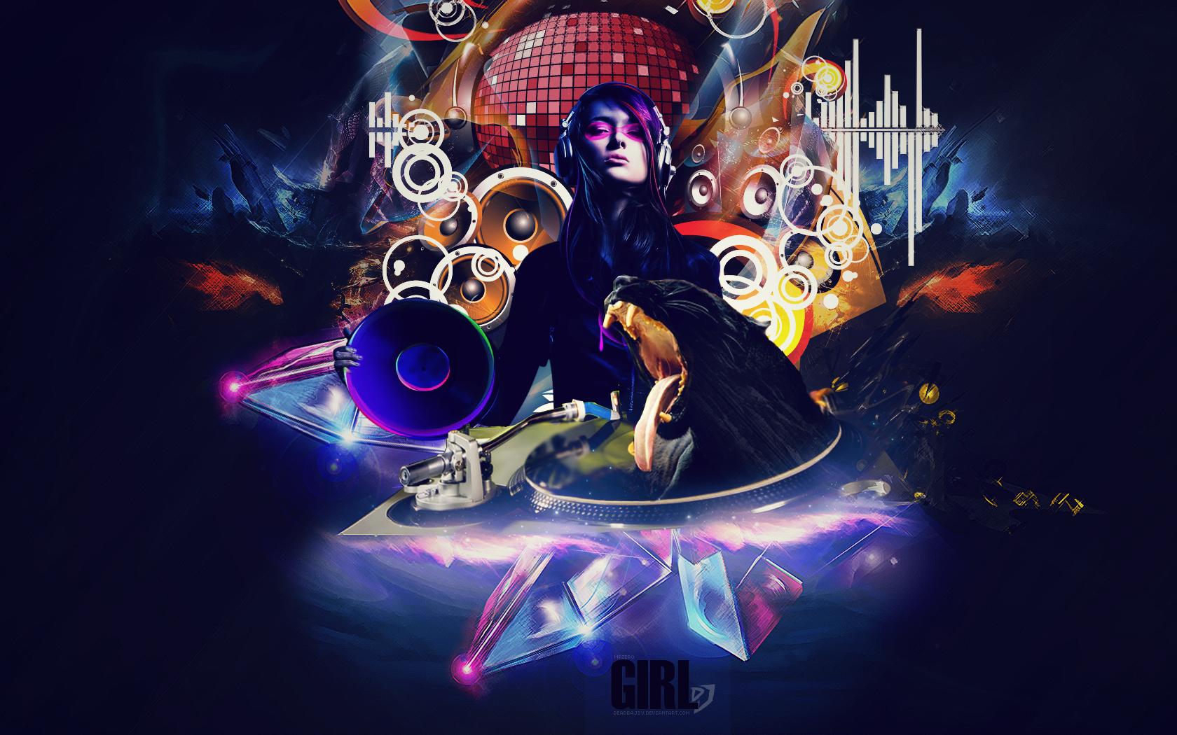 Girl DJ by DeadBaJ3y on DeviantArt