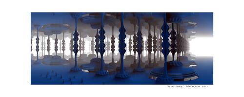 Blue Plaza by TomWilcox