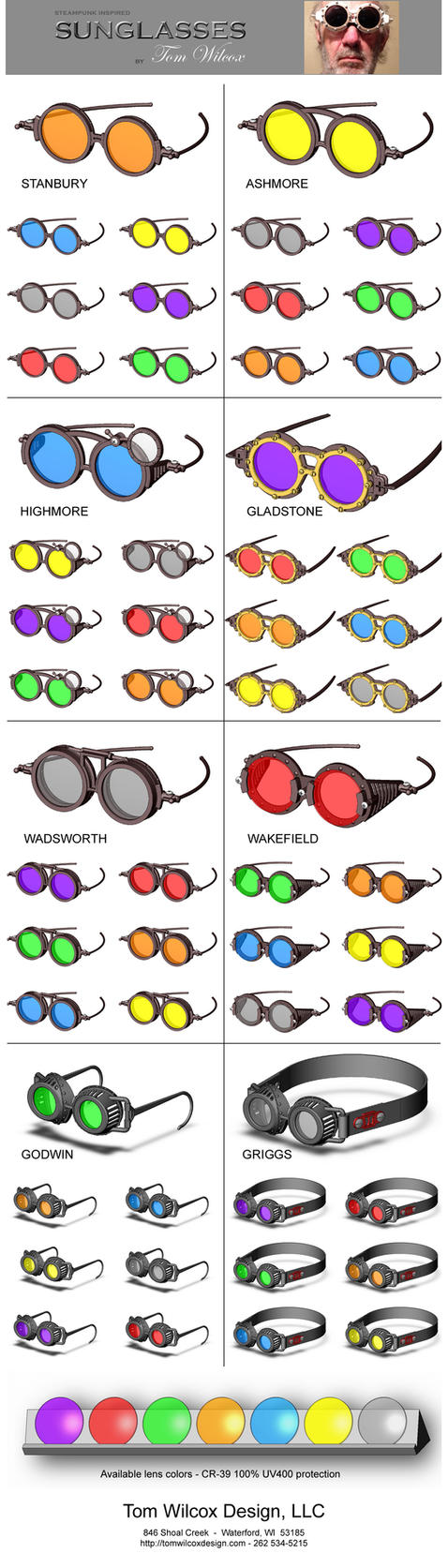 Poster: 56 Steampunk Inspired Fashion Sunglasses by TomWilcox