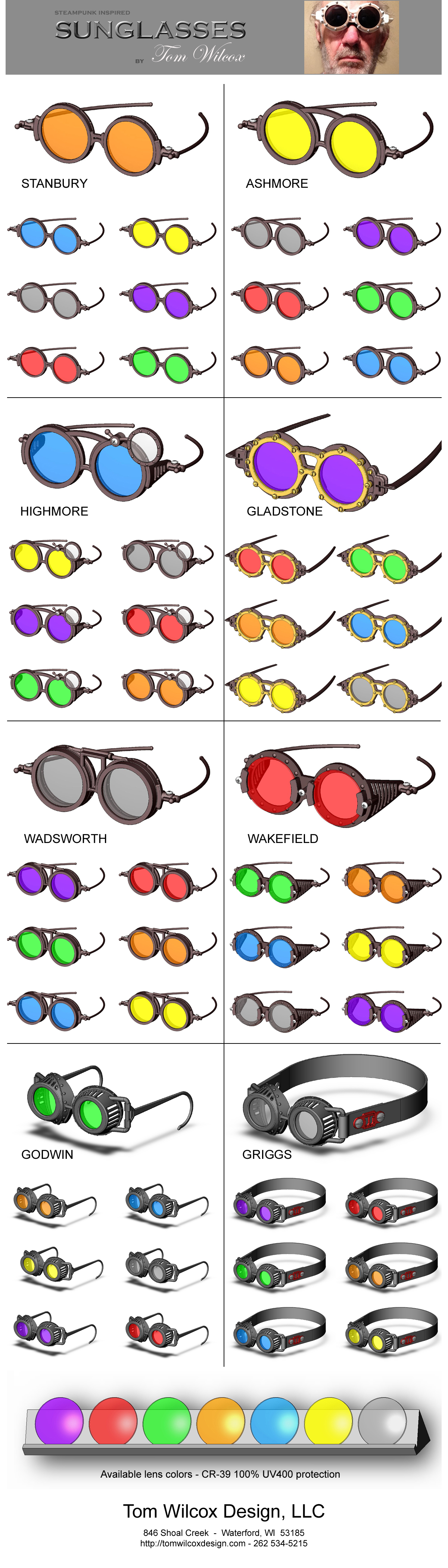 Poster: 56 Steampunk Inspired Fashion Sunglasses