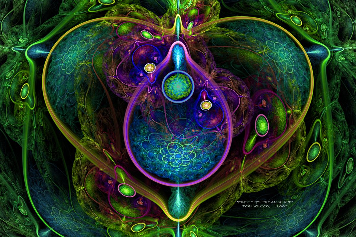 einstient fractal art dreamscape