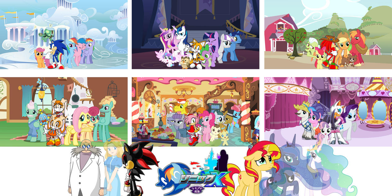 Sonic and My Little Pony : Mane 6 have parents by trungtranhaitrung