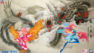 Bloom and Blaze : The Phoenix and Dragon
