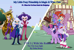 3 vs 3 : A MLP and Winx Club Crossover with Blaze by trungtranhaitrung