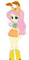 Fluttershy Cream Cosplay Vector by trungtranhaitrung