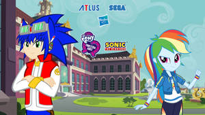 Sonic And Equestria Girls poster