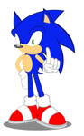 Sonic the Hedgehog in my MLP digtal style