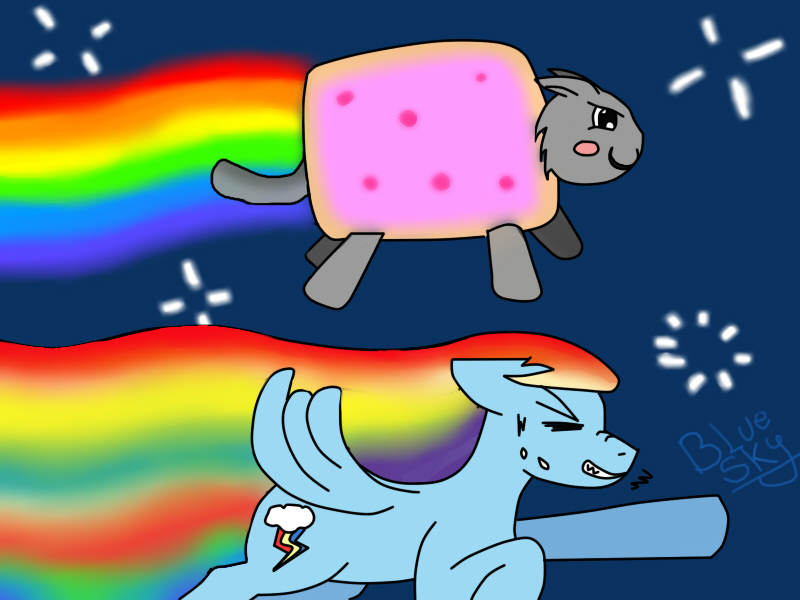 Nyan Cat And Rainbow Dash Nyan Cat y Rainbow Dash 3 by