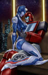 Chromia and Ironhide (morning glory on Cybertron)