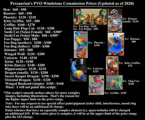 Prezaurian's Updated PYO Windstone Commission Pric