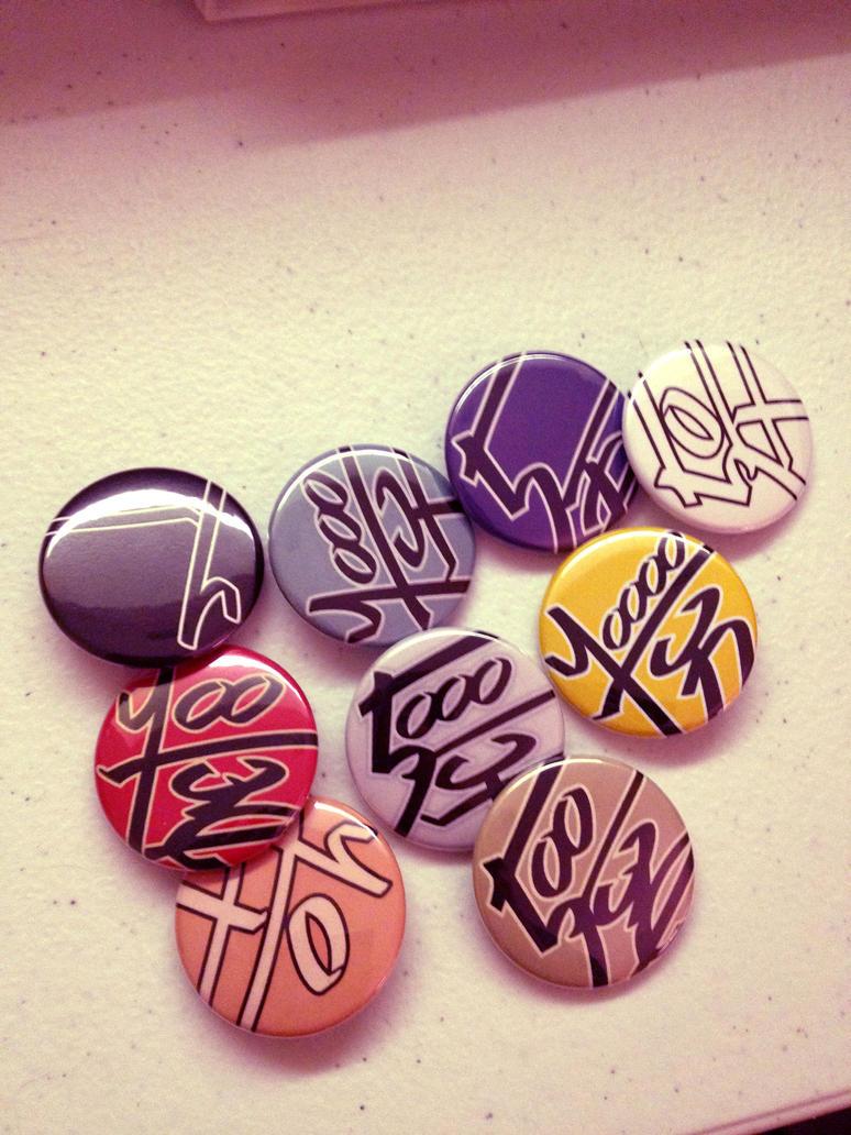 TWEWY - Yen Pins #246-#254 by TheWolfEndsWithYou