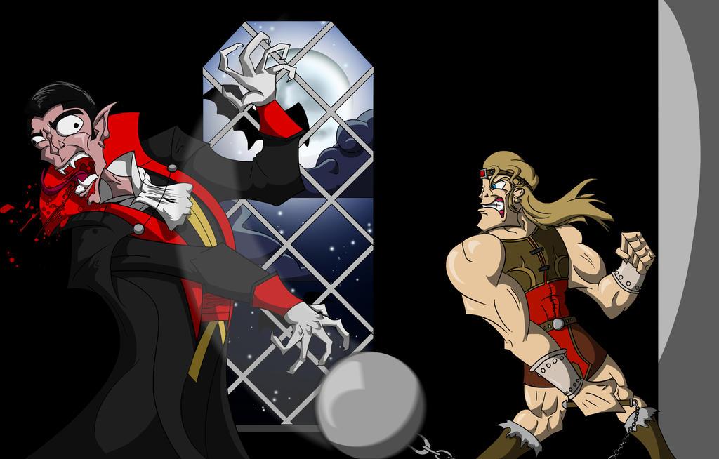 Simon vs. Dracula by Royalty-Doc