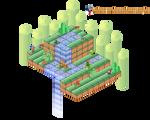 The Mushroom Kingdom Isometric