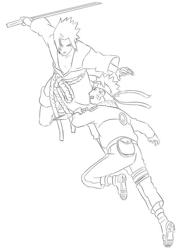 Naruto vs Sasuke Line by Silvaras on DeviantArt