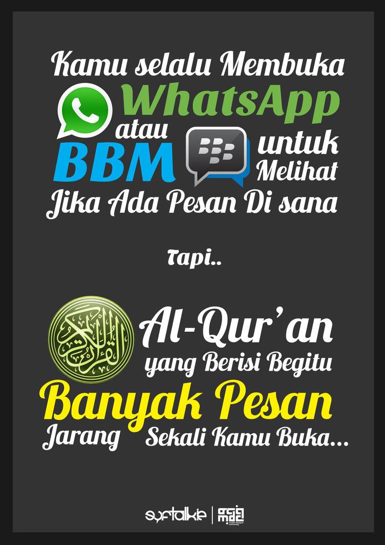 Al Quran Vs Whatsapp by syfArt