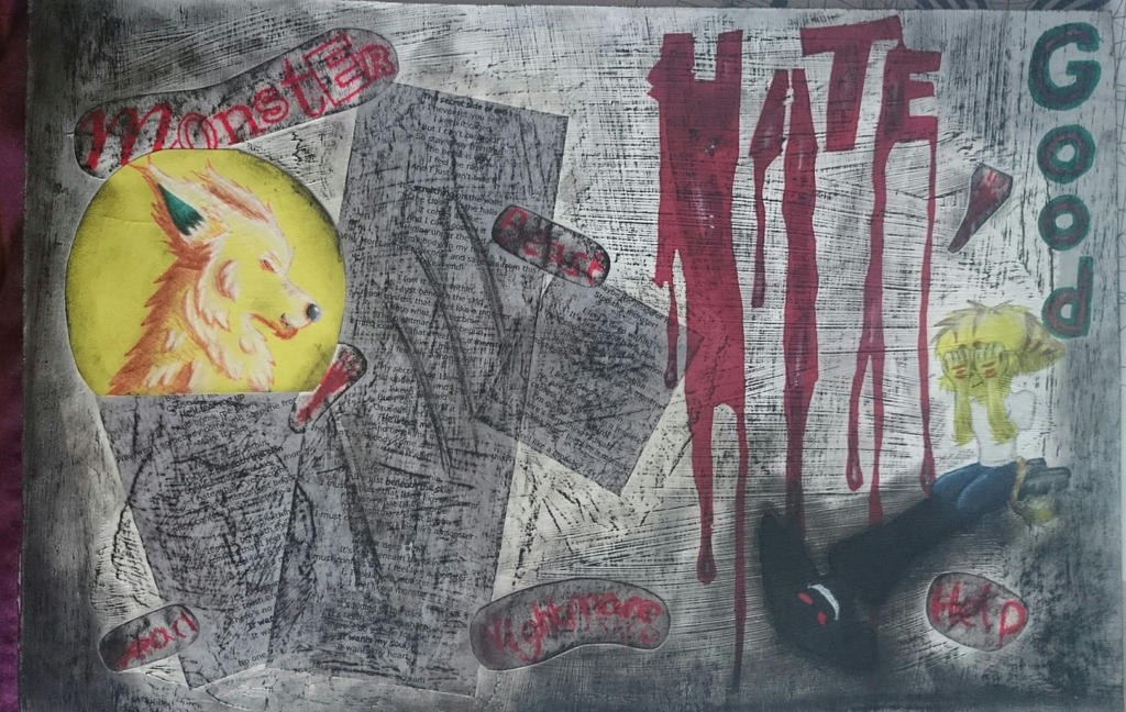 College Work - Mixed Media Board 1 by YellowDizzyLombax