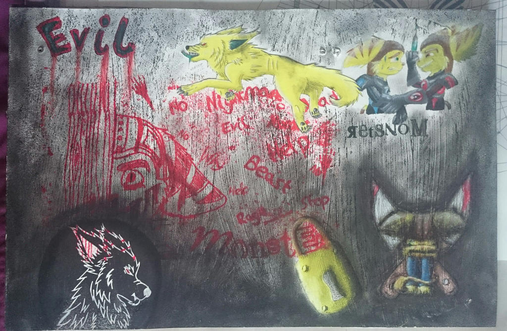 College Work - Mixed Media Board 2 by YellowDizzyLombax
