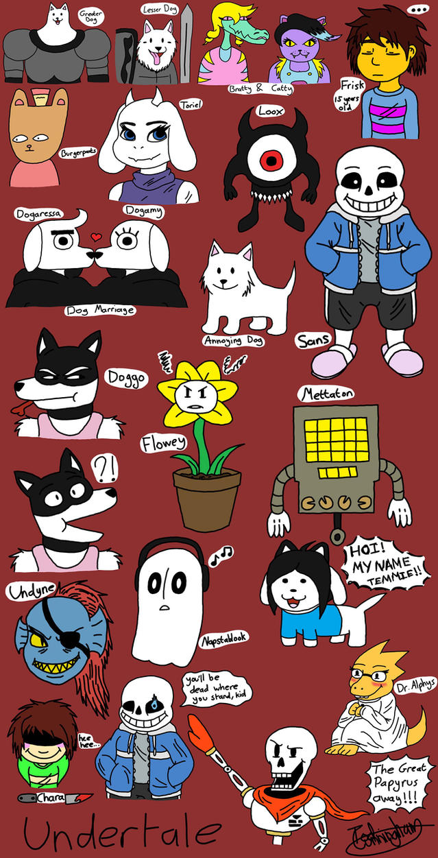 Undertale Sketchdump by YellowDizzyLombax