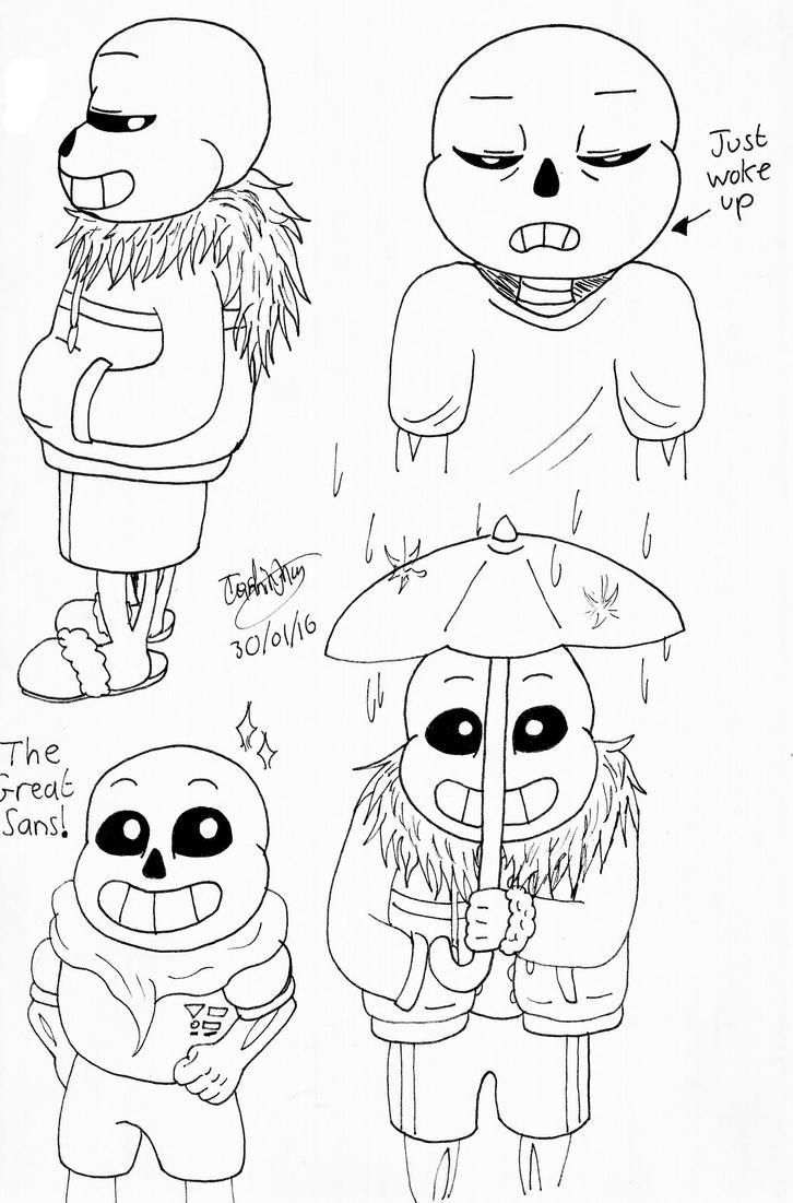 Sans the Skeleton by YellowDizzyLombax