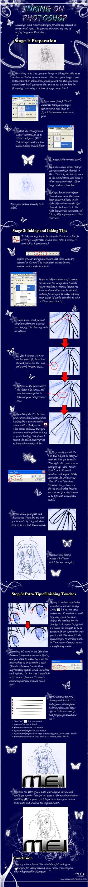 Inking Tutorial by Kaku-Mei