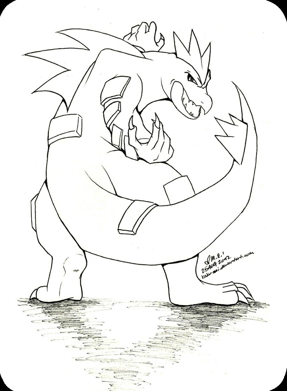 Commission: Feraligatr by Kaku-Mei