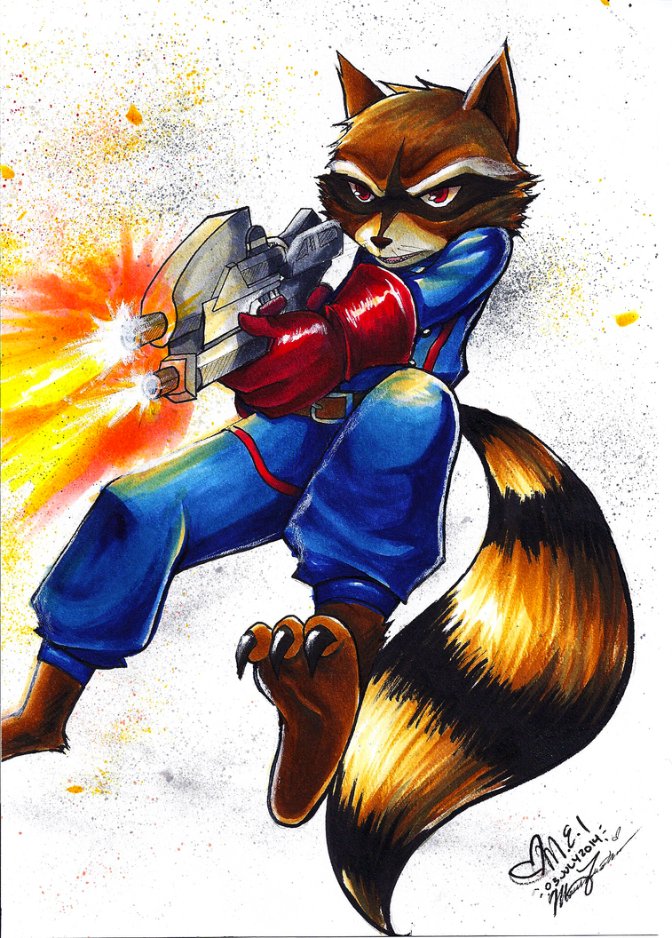 Rocket Raccoon by Kaku-Mei