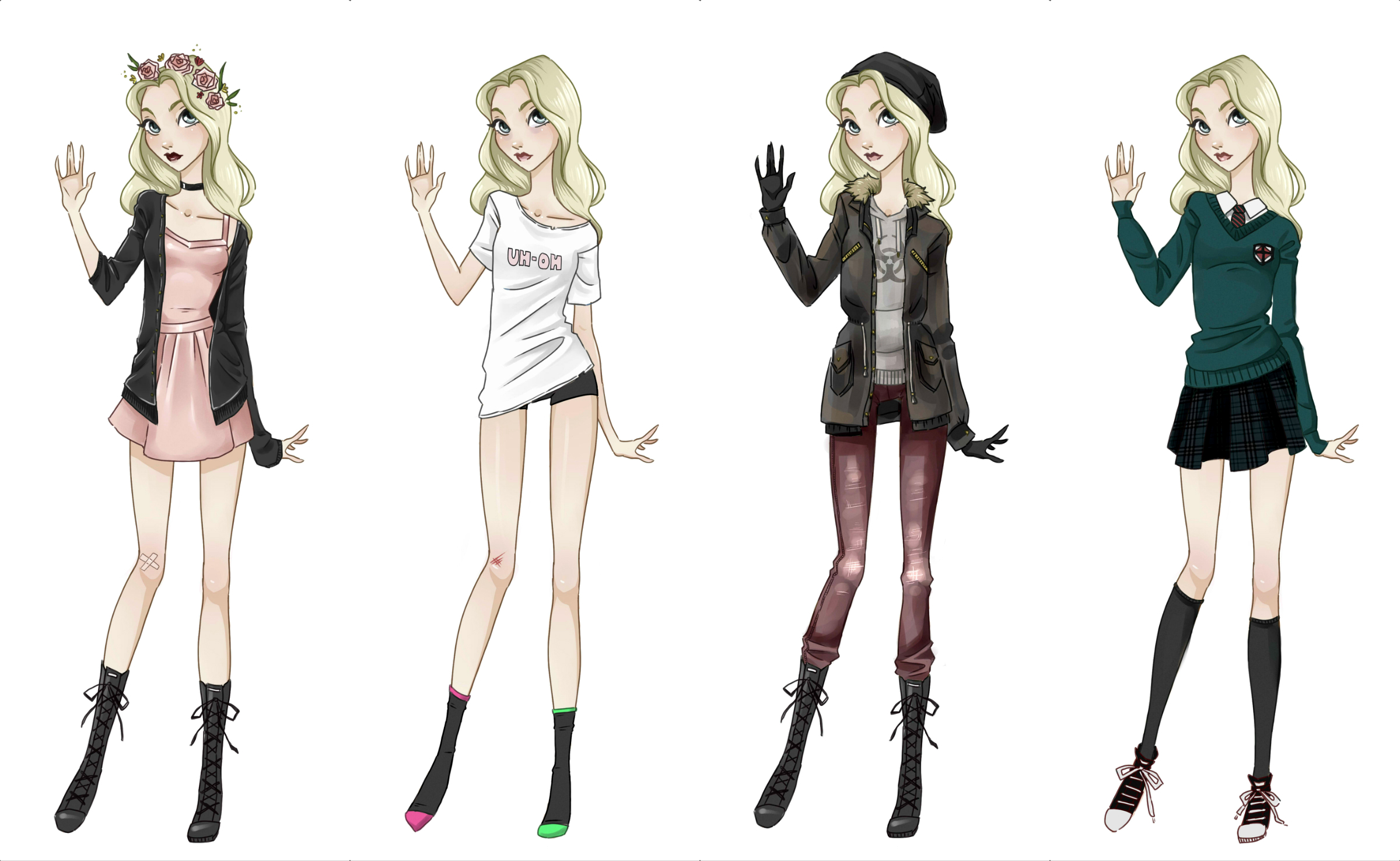OC outfits by my-purple-headphones on DeviantArt