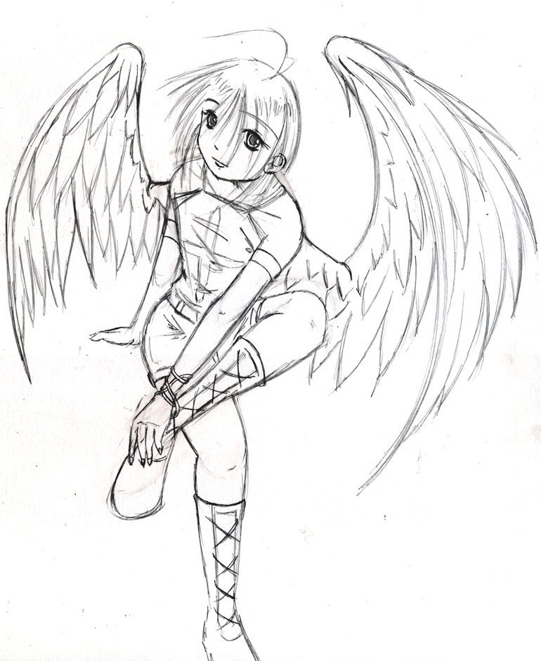 Cute Angel Drawing | New Calendar Template Site
