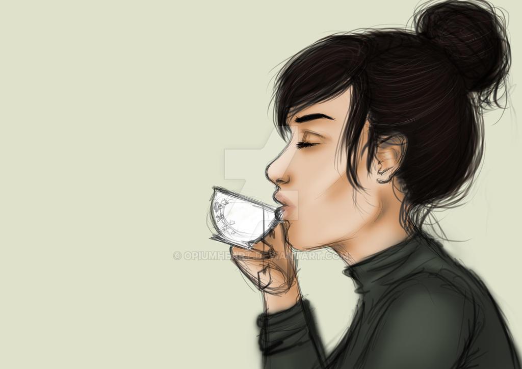 Tea girl (WIP) by OpiumHeart