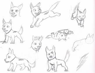 Bolt Doodles by ShadowHawk04