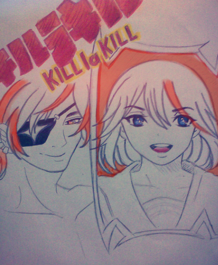 KLK: senketsu and ryuko by Firework-Grenade