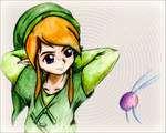 Link And Navi - Drawing Video Available by Sapheron-Art