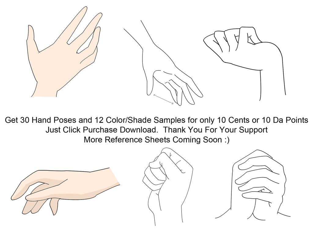 30 Anime Hands  Reference Sheet By Sapheronart