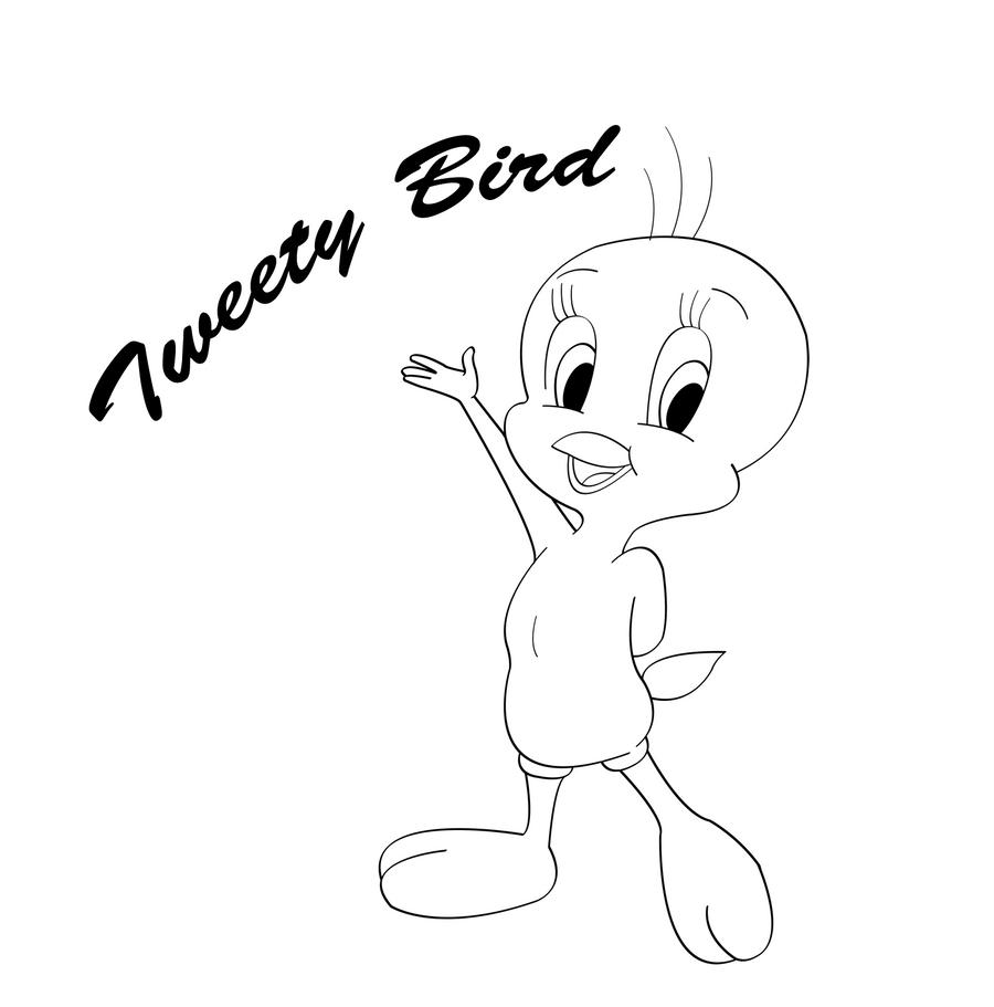 tweety bird line art by sapheron art