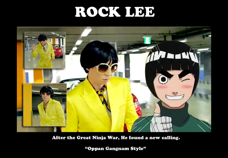 Rock Lee - Gangnam Style by Sapheron-Art