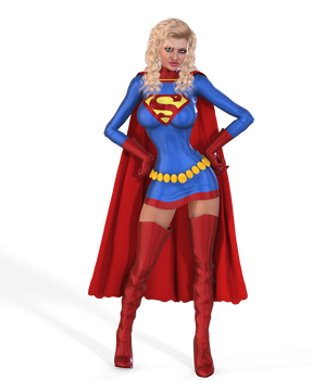 Supergirl Adventure comics costume for V4