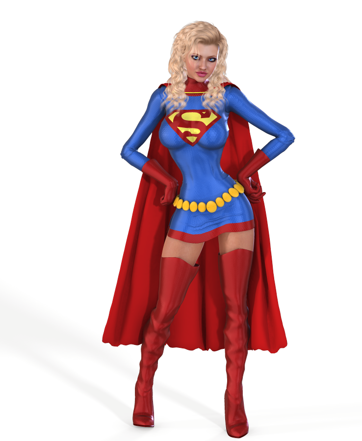 Supergirl Adventure comics costume for V4 by Terrymcg on ... Supergirl Comic Costume