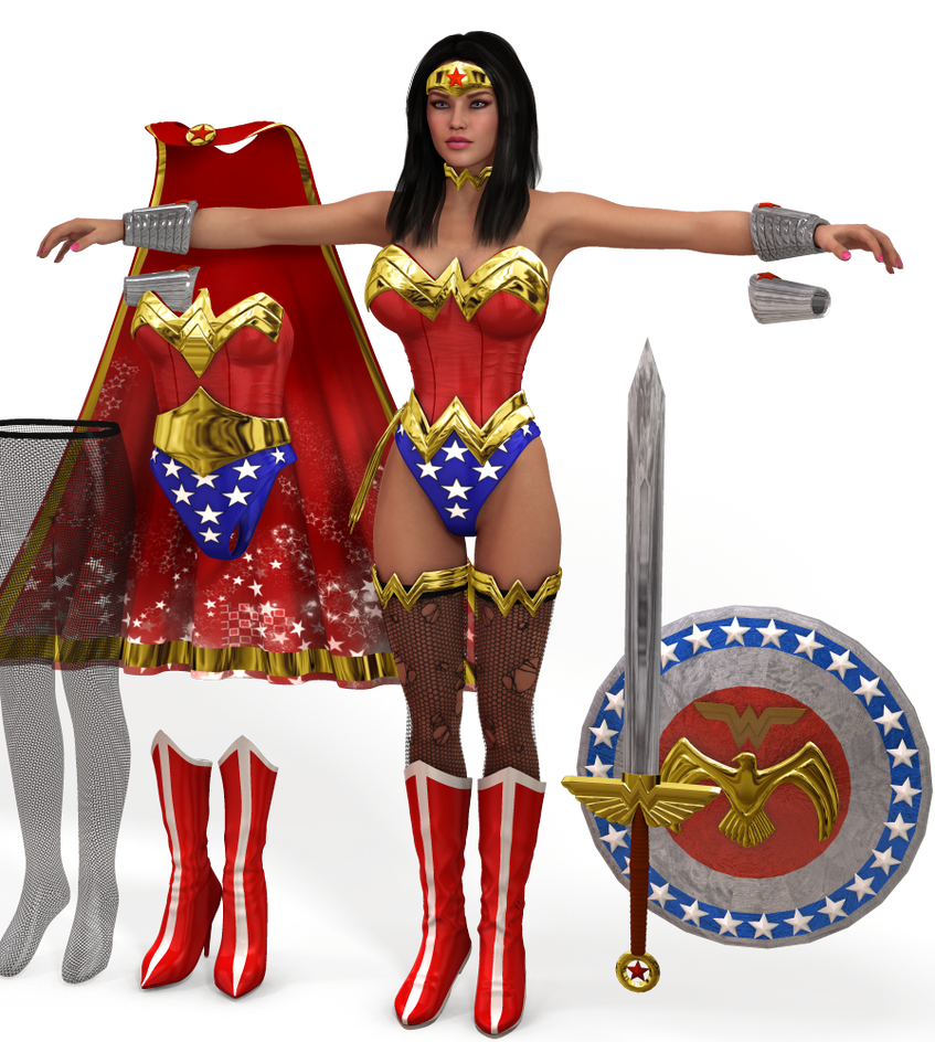 Wonder Woman costume pack for V4 and A4 by Terrymcg on ...