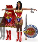 Wonder Woman costume pack for V4 and A4