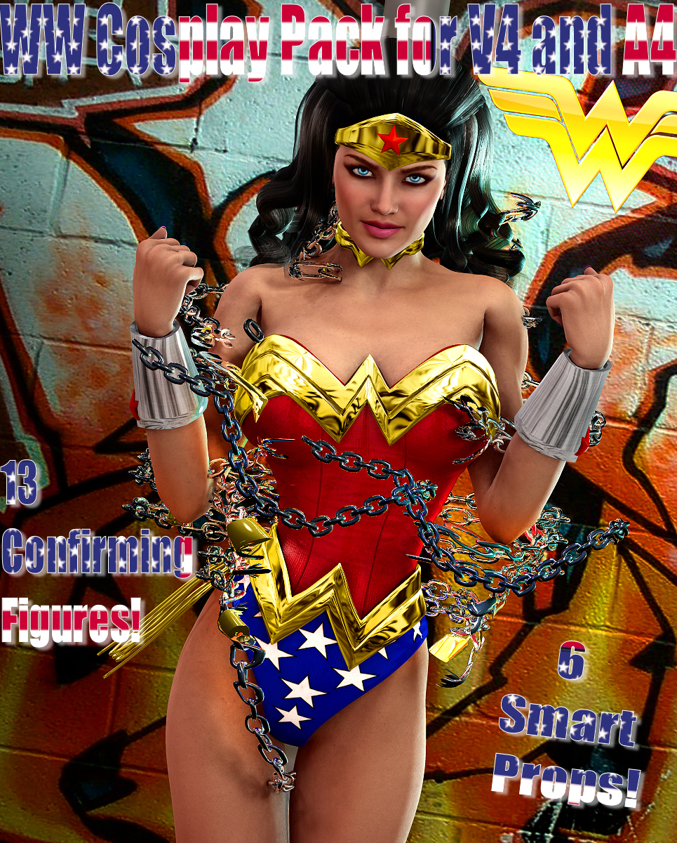 Wonder Woman Cosplay Pack For V4 and A4