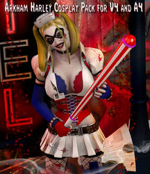 Harley Arkham Asylum cosplay Costume for V4 and A4 by Terrymcg