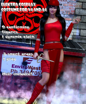 Elektra cosplay costume for V4 and A4