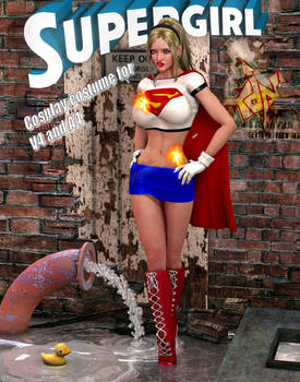 Supergirl bluemini cosplay costume for v4