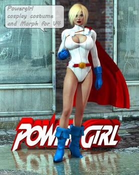 Powergirl Custom Cosplay For V4