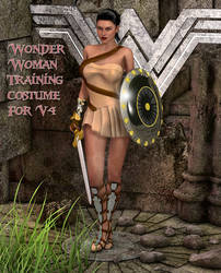 Wonder Woman Training Costume For V4 by Terrymcg
