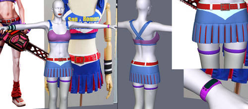 Juliet lollipop Chainsaw costume for V4 by Terrymcg